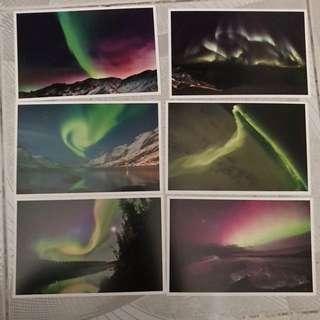 明信片 postcard - 極光 Aurora 北極光