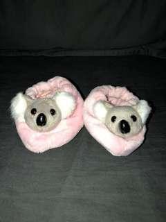Koala Fuzzy Crib Slippers