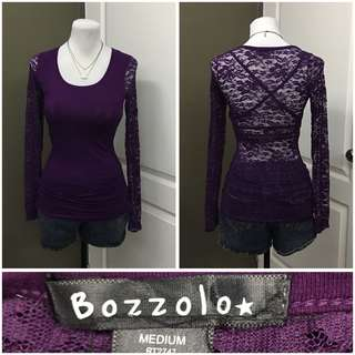 Laced purple blouse (Medium) 100 pesos only!