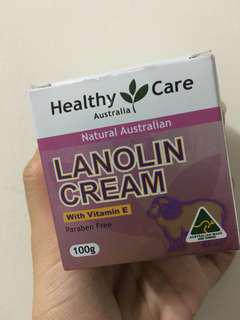 Lanolin Cream Australia Healthy Care 100g