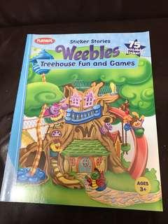 兒童貼紙書Sticker Stories Weebles Treehouse Fun and Games