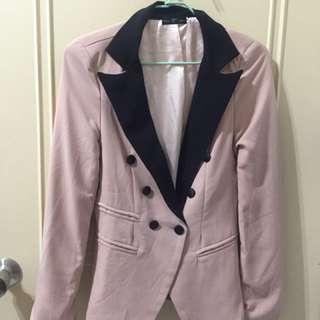 🚚 西裝外套-藕粉色