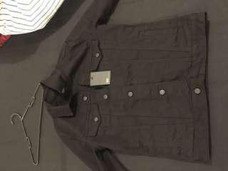 ASOS DESIGN skinny denouncing jacket in black