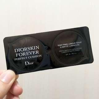 (1包)DIOR DIORSKIN FOREVER 恆久貼肌氣墊粉底 Perfect Cushion SPF 35 PA+++ #020 Light Beige (2g 試用裝 sample)