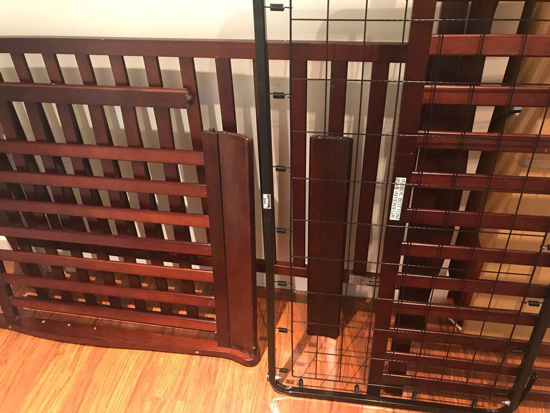 3 in 1 Convertible wooden crib including the mattress
