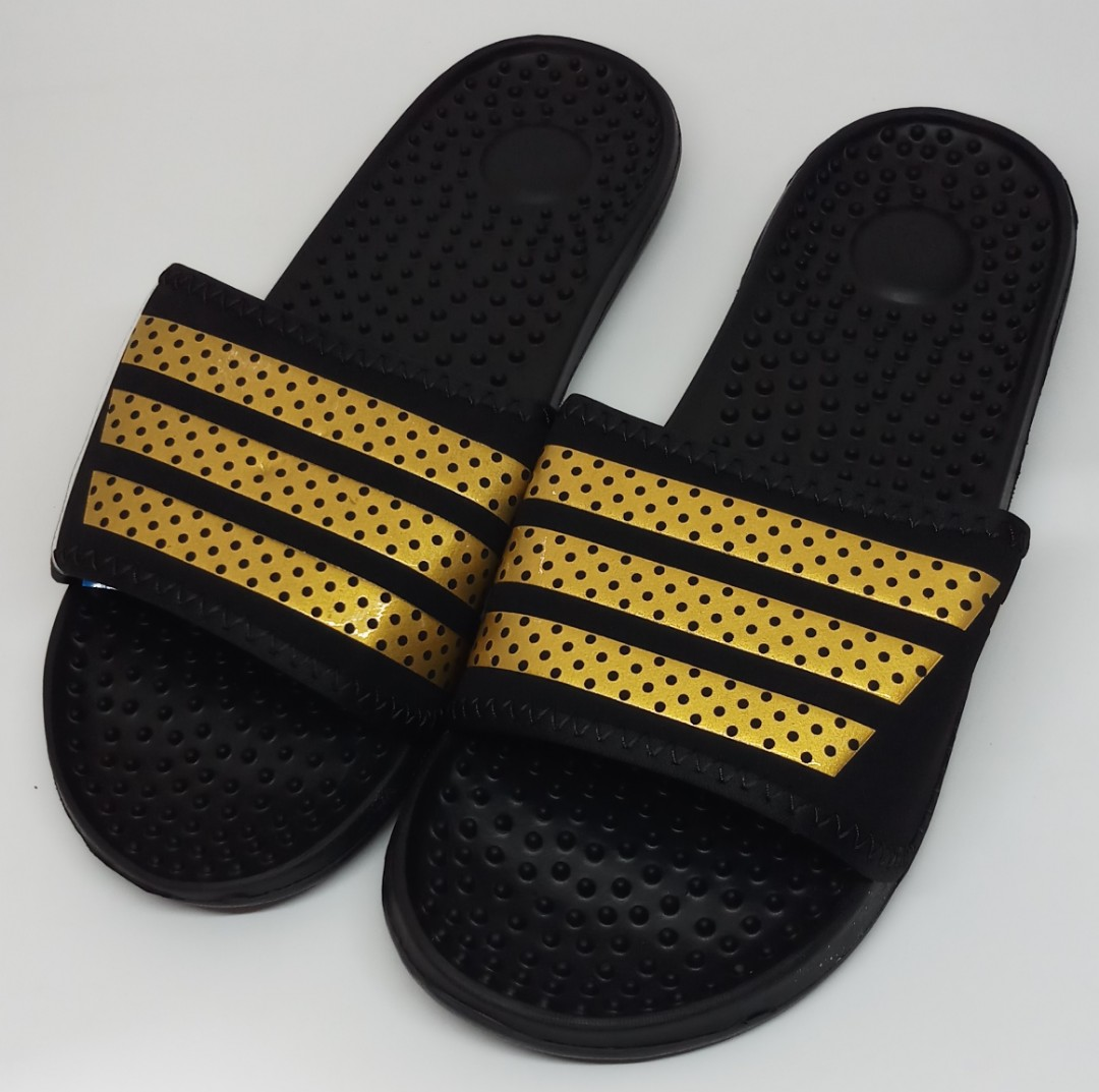 6d25cc68f32f Adidas Slippers - Black Gold (OEM)