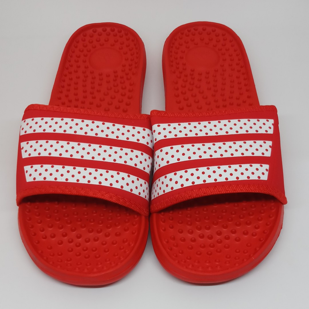 2733e04d2502 Adidas Slippers - Red White (OEM)