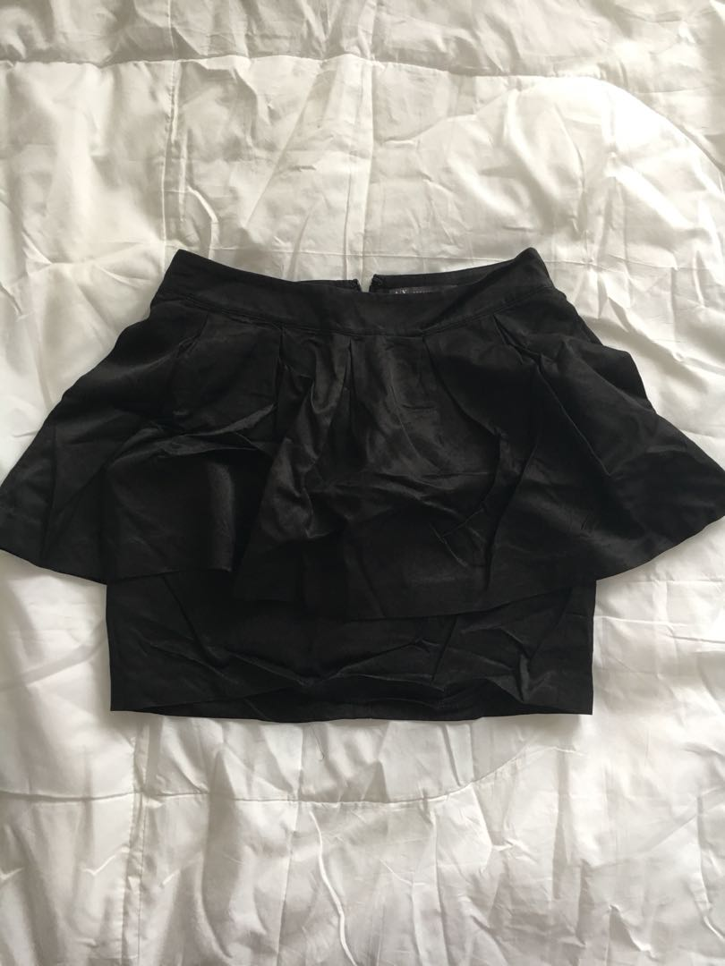 939f90a26694 Armani Exchange Black Peplum Skirt, Women's Fashion, Clothes ...