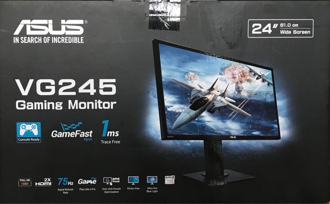 ASUS VG245 gaming monitor, Electronics, Computers, Desktops