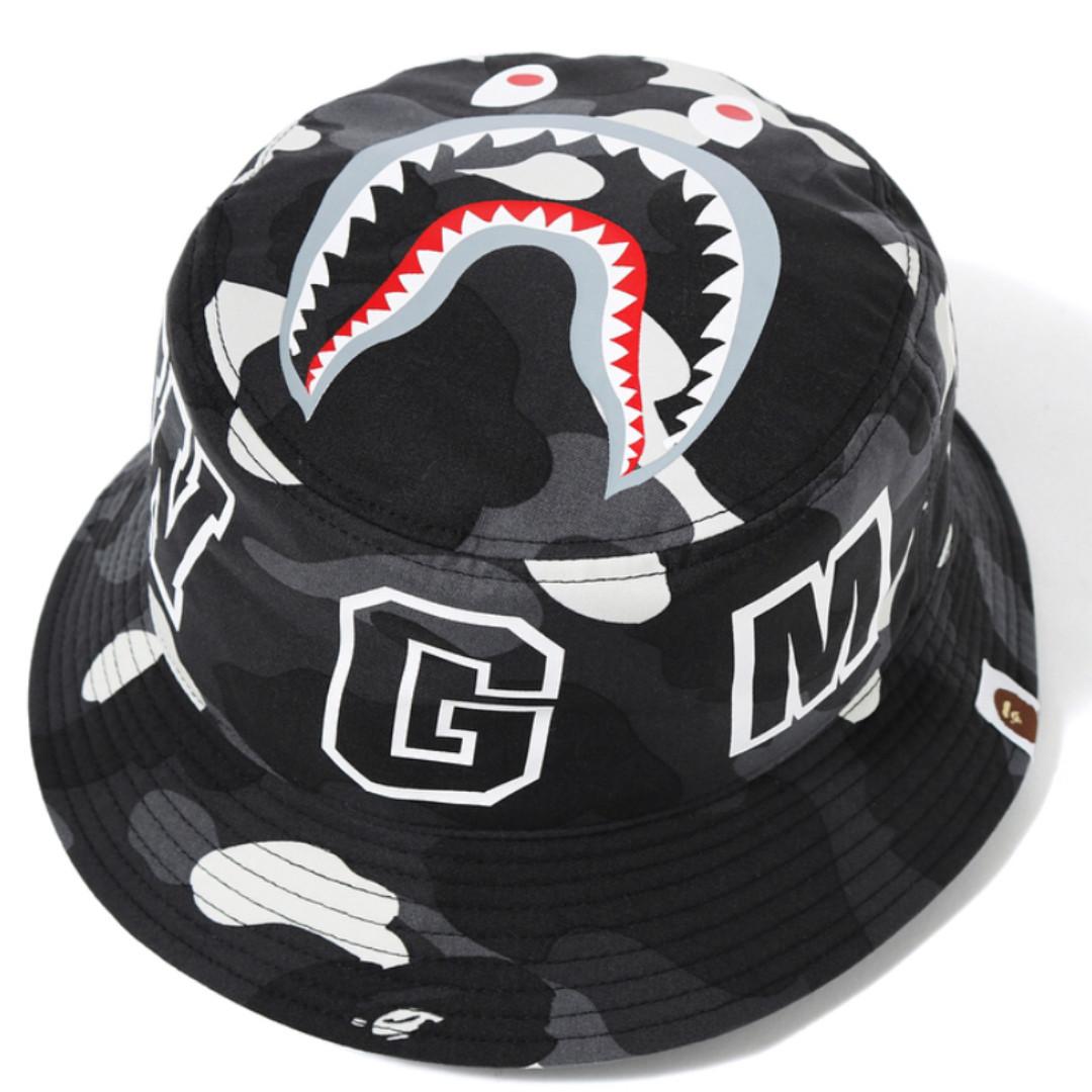 BAPE CIty Camo Shark Bucket Hat fde9582aa13