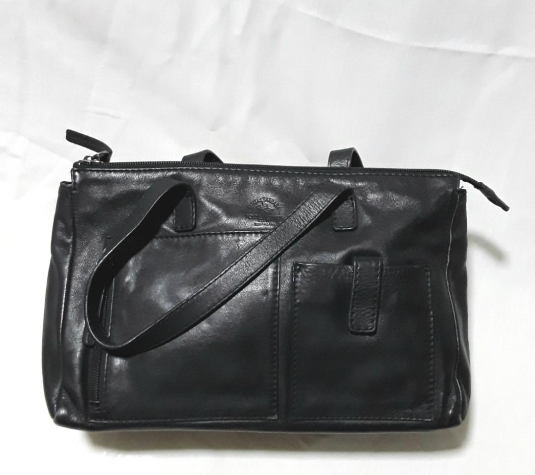 8416940c12 Black Leather Santa Barbara Polo & Racquet Club, Women's Fashion ...