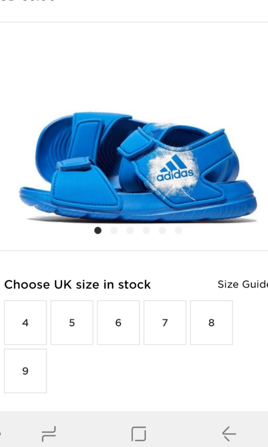 cd0820e958b4e BNWT Adidas AltaSwim Blue Sandals