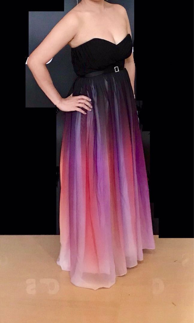 Elegant Prom Dinner Ombre Dress Womens Fashion Clothes Dresses