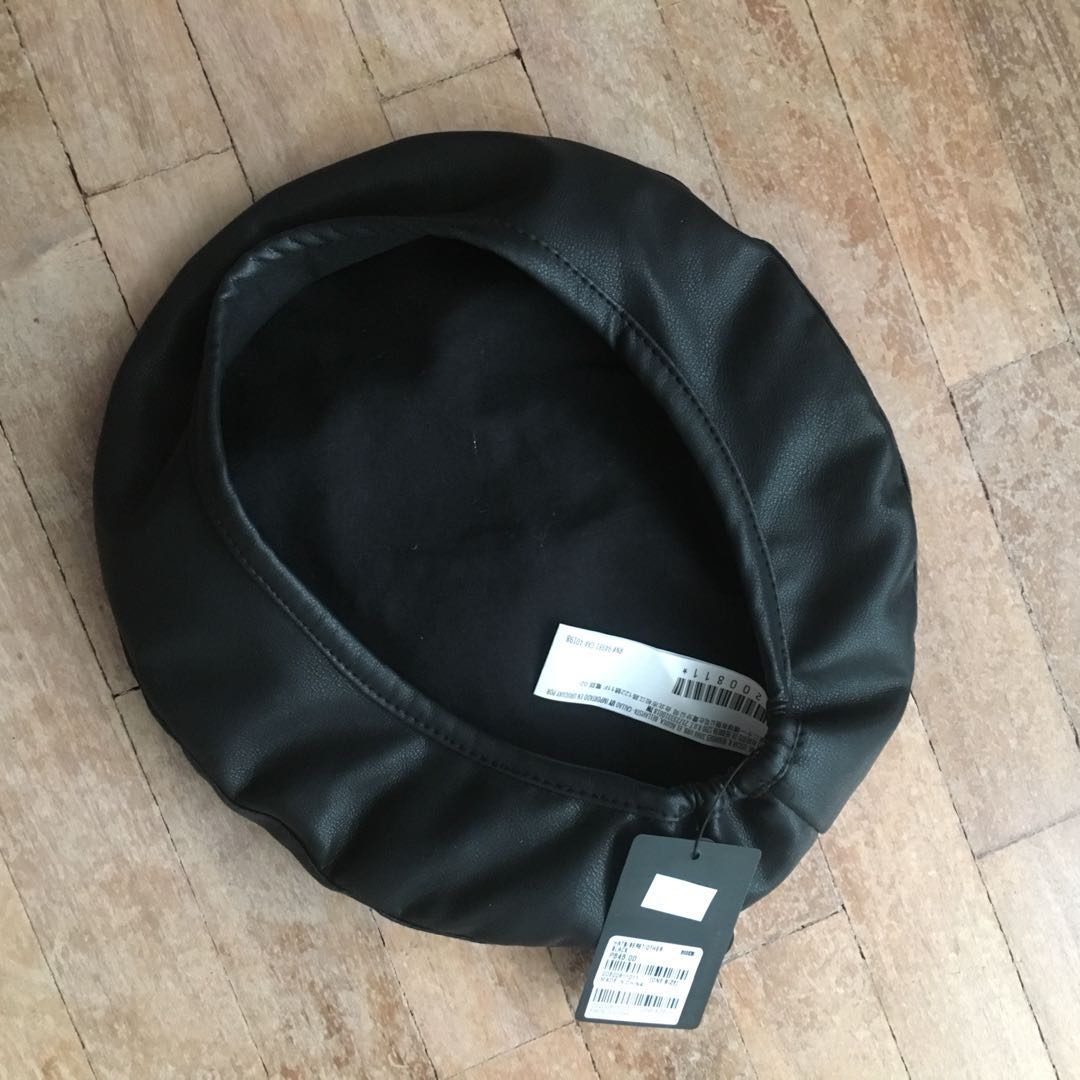 0033a97c691ab Forever 21 Faux Leather Beret