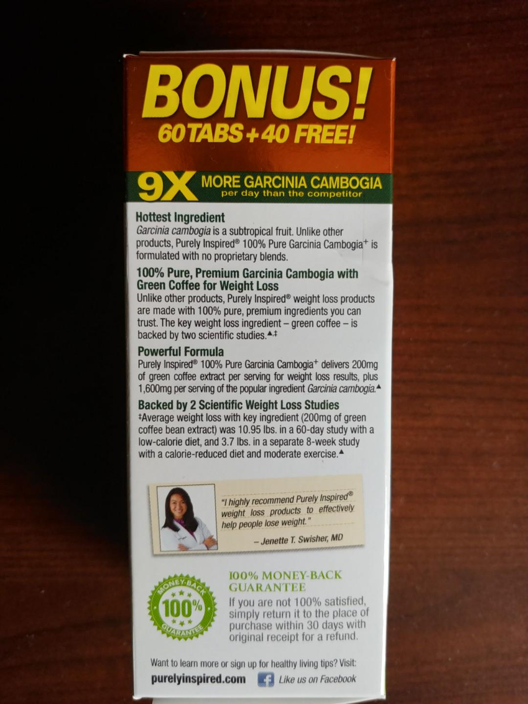 Garcinia Cambogia 100 Easy To Swallow Veggie Tablets