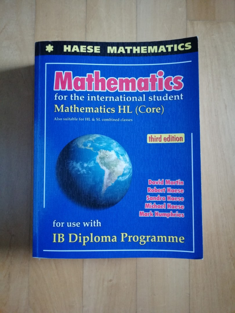 Haese IB Mathematics HL (Core) - Notes, Practice Questions and Answers with  CD