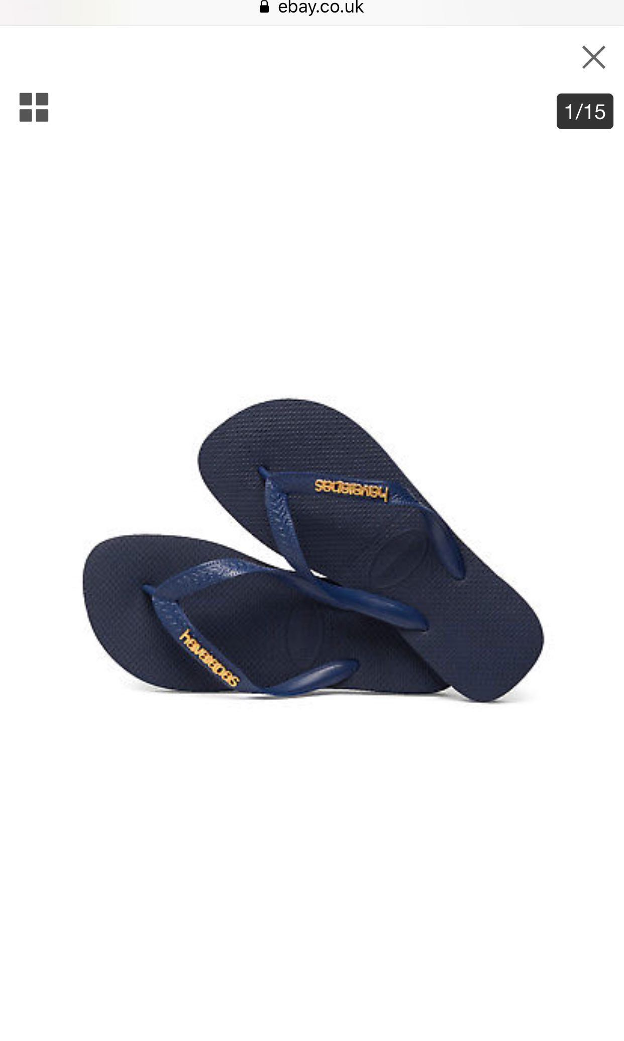 ad9adc213 Havaianas Navy Gold Metal Logo