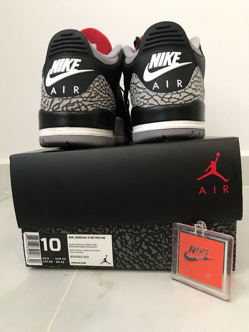 more photos 1bb23 4ac7c Jordan 3 retro black cement, Men's Fashion, Footwear ...