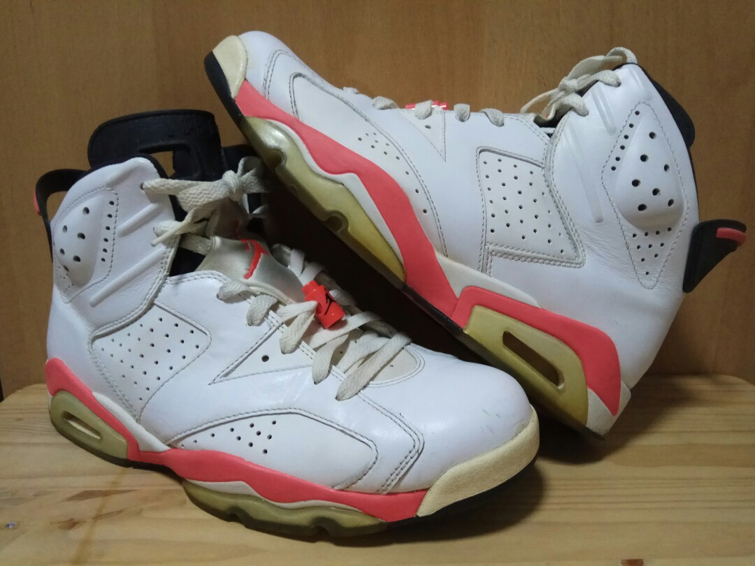 buy popular 65e54 e43d0 JORDAN 6 White Infrared sz US Mens 9.5, Mens Fashion, Footwe