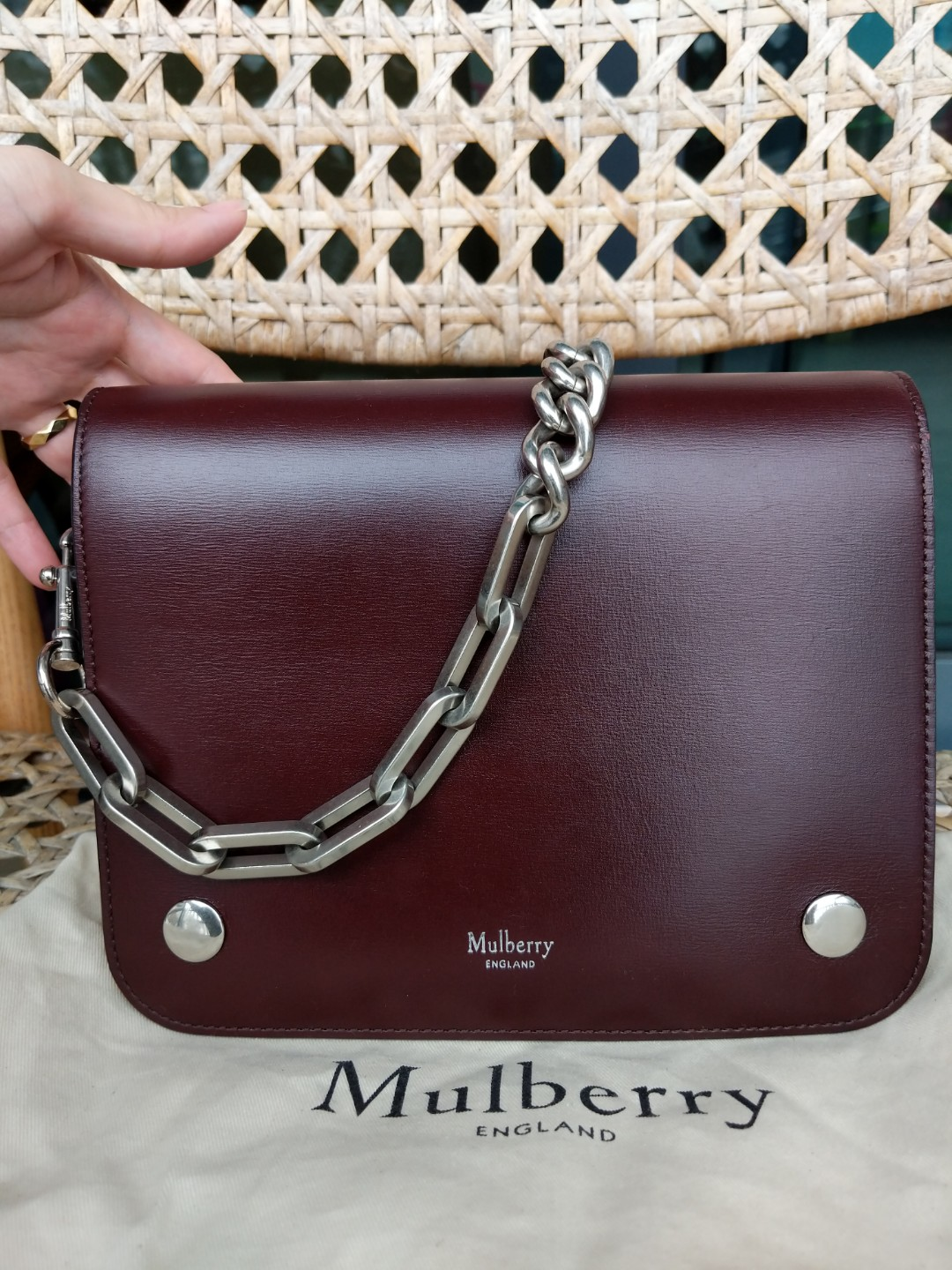 c85c50f1e8 Mulberry Crossboarded Calf Leather Clifton Bag