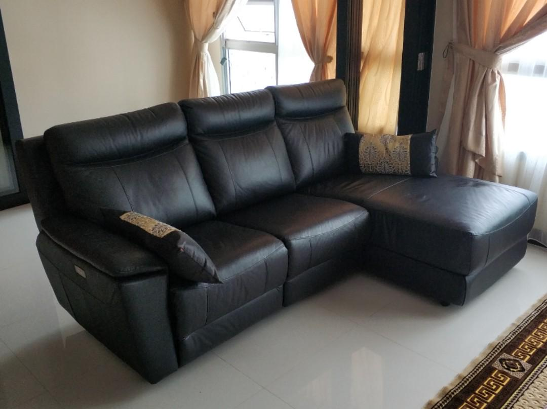 Leather Sofa With Recliner Furniture Sofas On Carousell