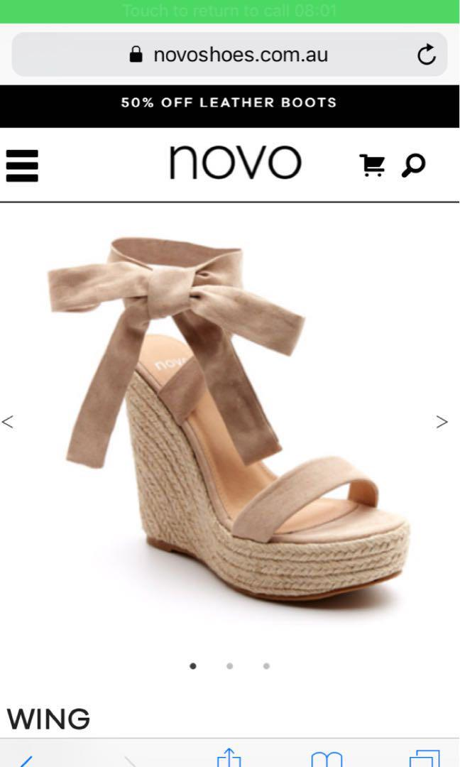 Novo Tie Up Wedges size 8