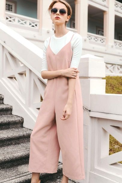 cebdbd9ef2 Orleans Jumpsuit in Pink, Women's Fashion, Clothes, Rompers & Jumpsuits on  Carousell