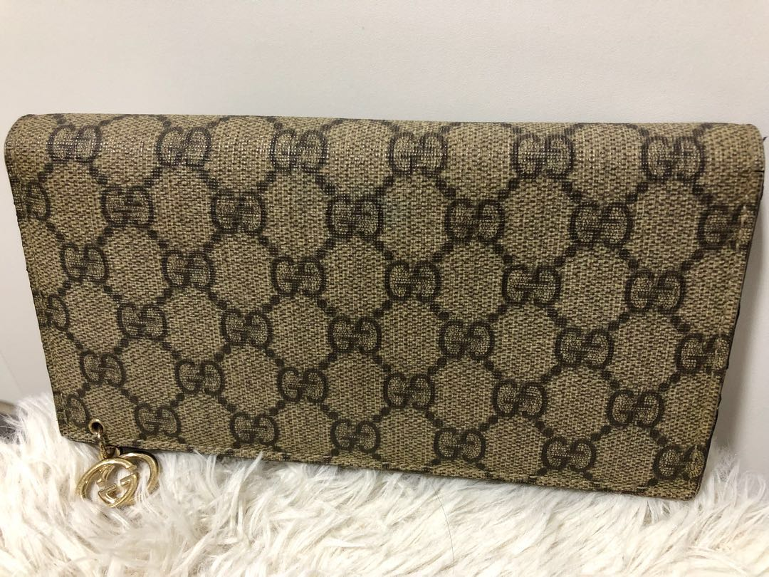04d4ac654e5725 Preloved Authentic Gucci Long Wallet, Luxury, Bags & Wallets ...