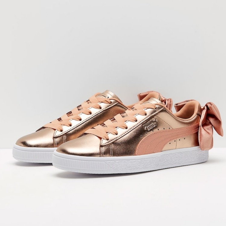 Puma Basket Bow Luxe Dusty Coral Puma Wh 37.5 (7 US 4.5 UK