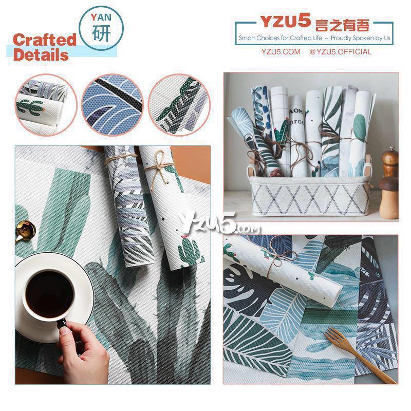 PVC Waterproof Place Mat Table Dressing Wear TableCloth Placemat Dinning Pad MAT