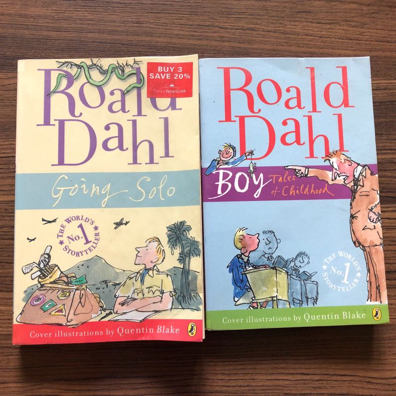 Roald Dahl Titles Going Solo Boy Tales Of Childhood Books