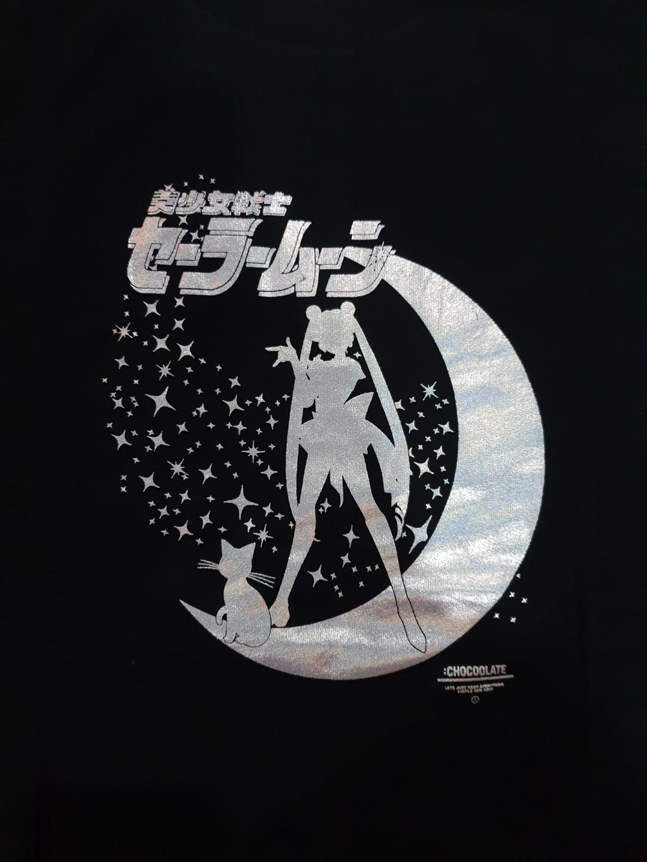 Sailor Moon X It Chocoolate Black Foil T Shirt Womens Fashion