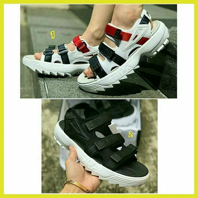d3ea7a00833 sepatu sandal wanita cewek fila disruptor 2 import asli ori original terbaru  2018 branded trend murah, Olshop Fashion, Olshop Wanita on Carousell