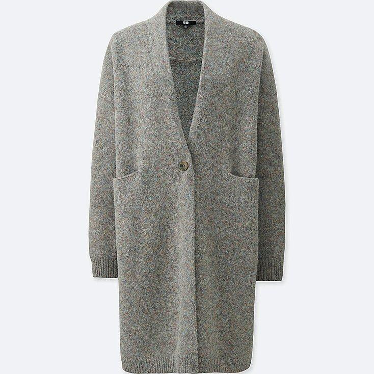 Uniqlo Women Melange Wool Long Sleeve Coat