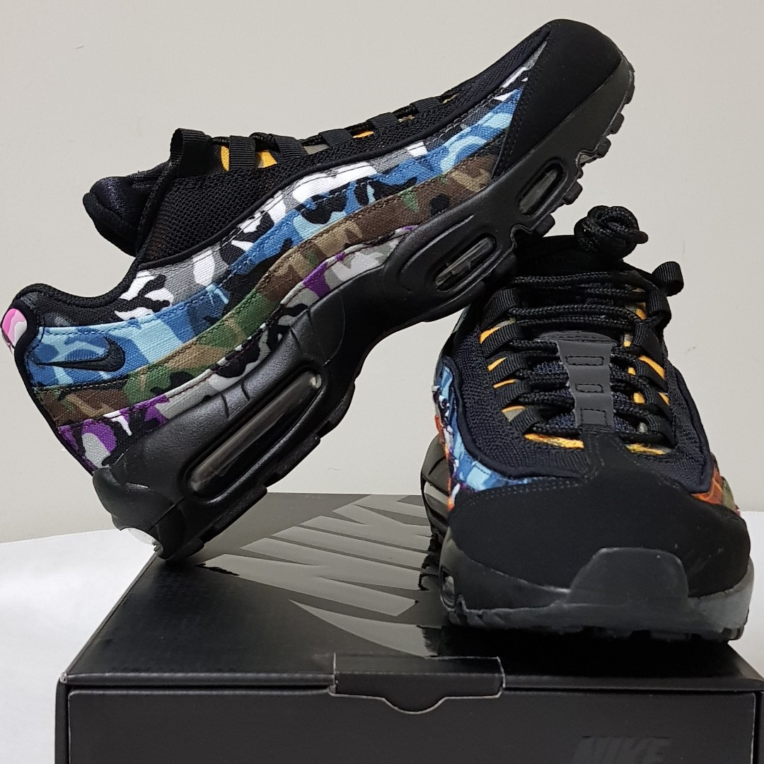733c0974 US 8.5 Nike Air Max 95 ERDL Party (BLACK), Men's Fashion, Footwear ...