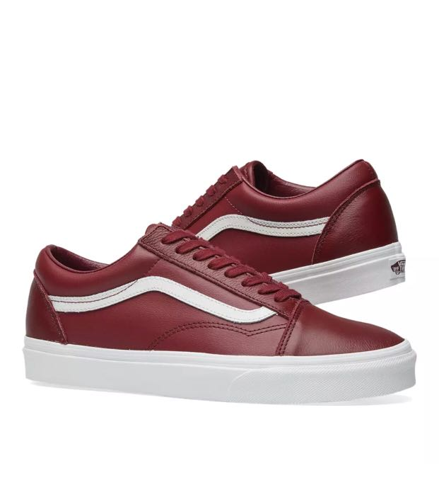 d845563c5c Vans Old Skool Burgundy Leather US 7 - 12.5