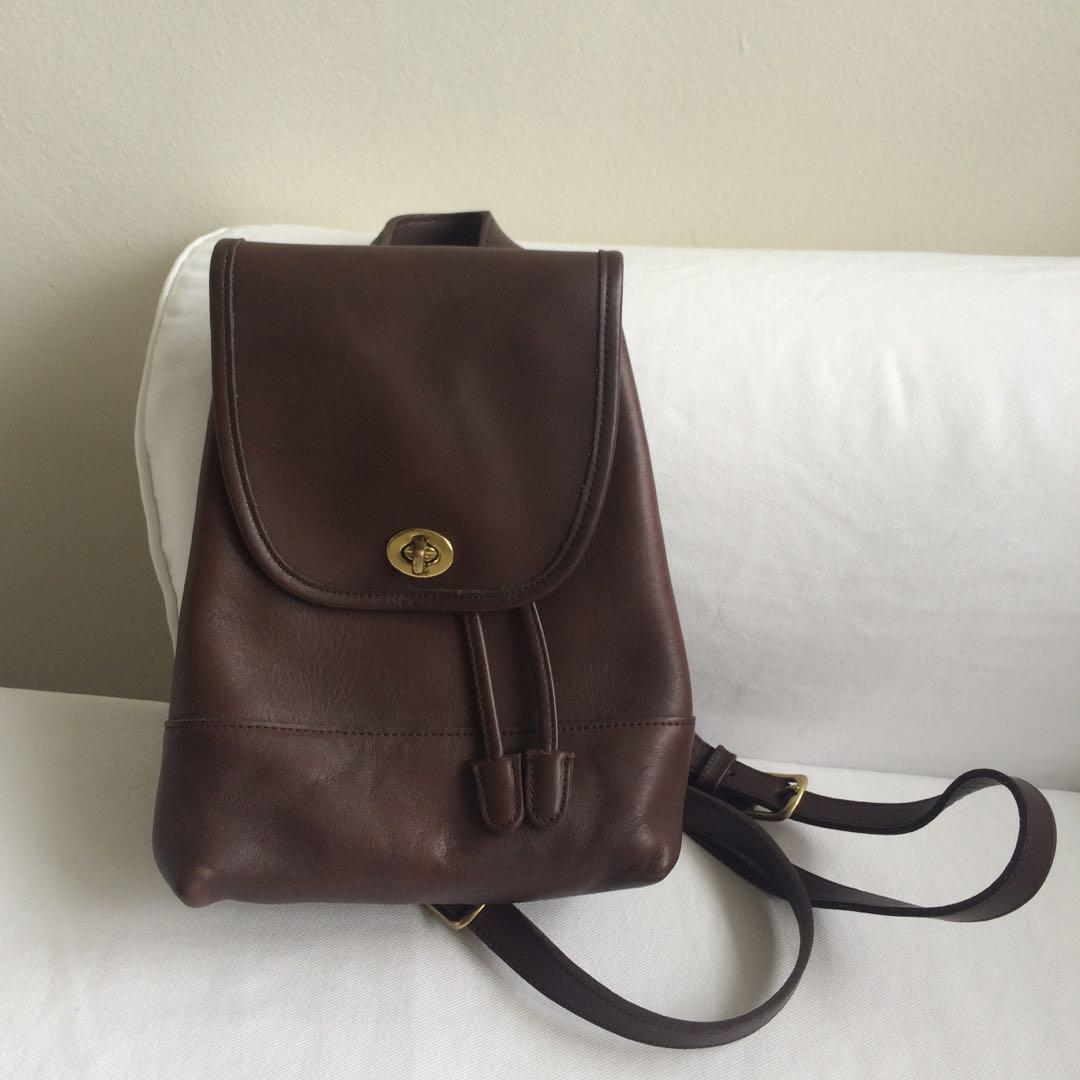 886a3ed6daa Vintage coach brown leather backpack, Women's Fashion, Bags ...