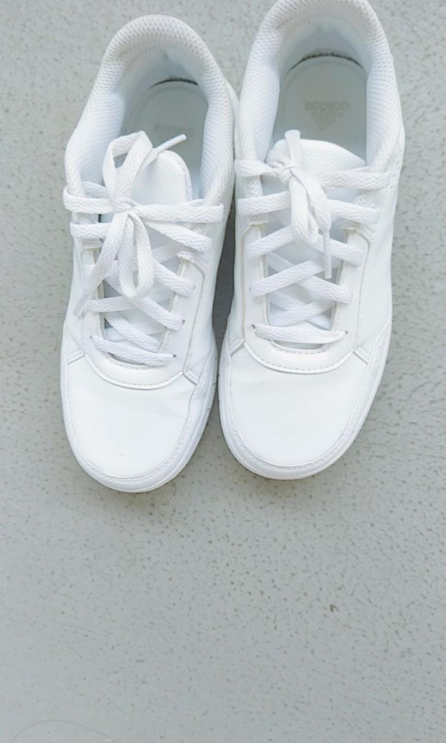 White Adidas School Shoes US Size 1.5