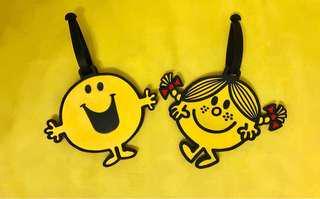 Mr men little miss 行李牌 mr happy little miss sunshine 奇先生妙小姐