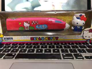 Hello kitty toy train figurine with Japan train captain