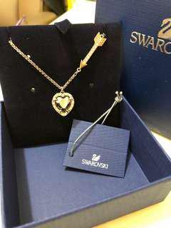 Swarovski 頸鏈 黑色心心