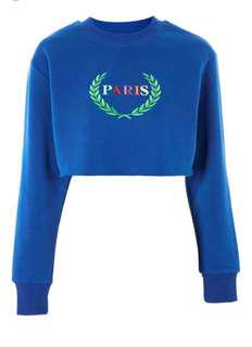 Paris Crop Sweater