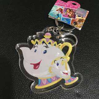🚚 迪士尼茶壺媽媽鑰匙圈