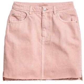 H&M pink denim skirt