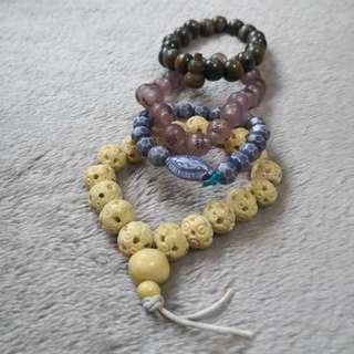 Round Buddha Beads Bracelet (elastic rope)