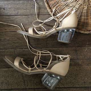 Forever 21 nude shoes,used once only in an event