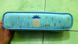 Pencil Case Pineapple Blue