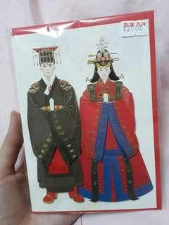 韓國情侶夫妻卡片