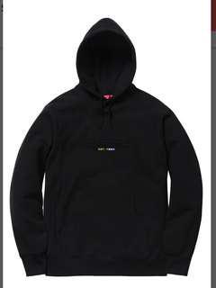 Supreme Embossed Logo Hooded Sweatshirt (SS18) Black Red