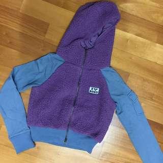ROXY - cropped fleece hoodie jacket
